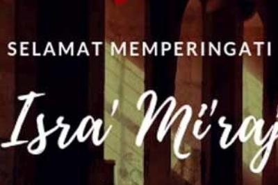 Selamat Hari Isra' Mi'raj 2019