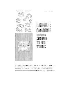 Standard Triumph Hardware catalogue front cover