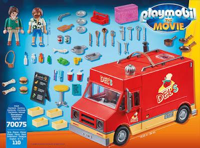 PLAYMOBIL La Película | The Movie 70075 Food Truck Del | Camión de Comida de Del Producto Oficial Película 2019 | Piezas: 110 | Edad: + 5 años COMPRAR ESTE JUGUETE