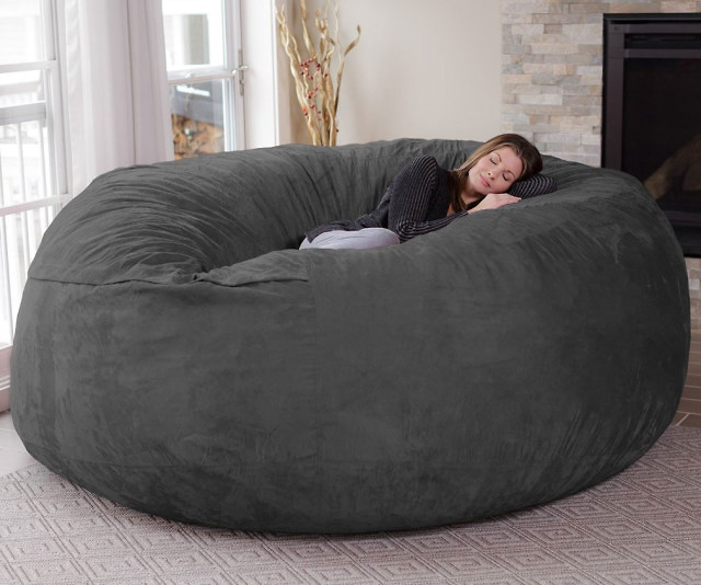 Turn a day of lounging around your house into paradise by plopping down onto this jumbo bean bag chair. It's big enough to accommodate up to three people and comes with a dual layer design so you can easily remove the micro suede cover for cleaning.