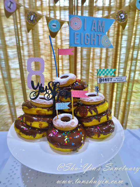 Magnificent Shu Yins Sanctuary Sherns 8Th Donut Birthday Cake Personalised Birthday Cards Paralily Jamesorg