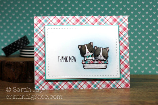 Birdie Brown Cool Cat stamp set - Sarah Jay #mftstamps