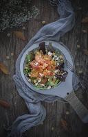 Ensalada de garbanzos con naranja y quinoa