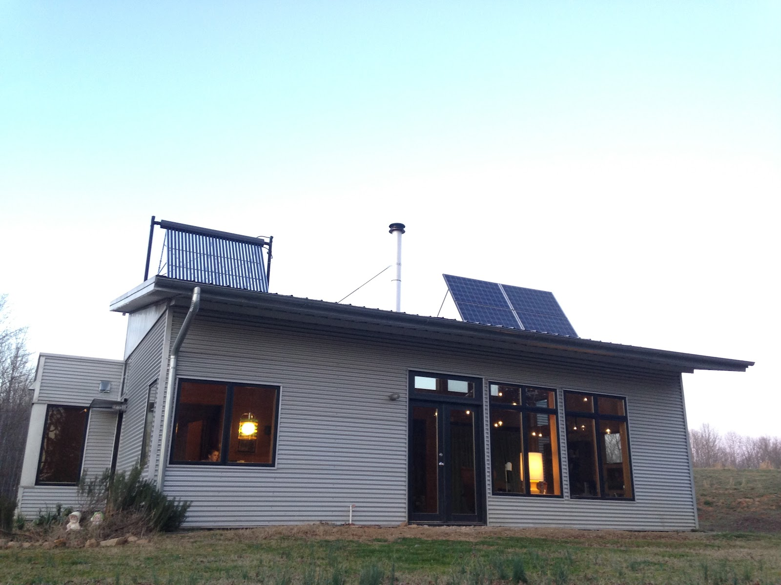 Passive solar prefab house gets a jump on spring projects for Passive solar prefab homes
