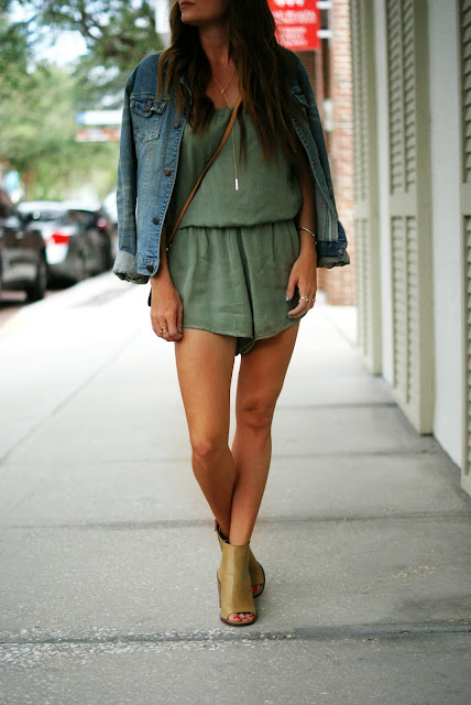 Styling a romper in fall