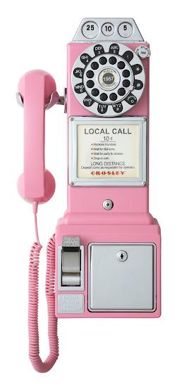 Crosley Pink Payphone
