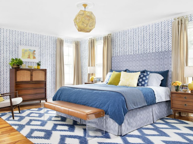 Chic Blue Bedroom
