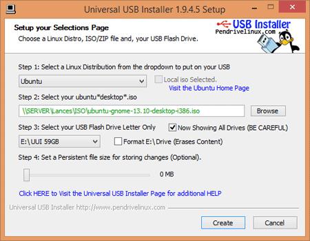 Tạo USB Boot với công cụ Universal USB Installer