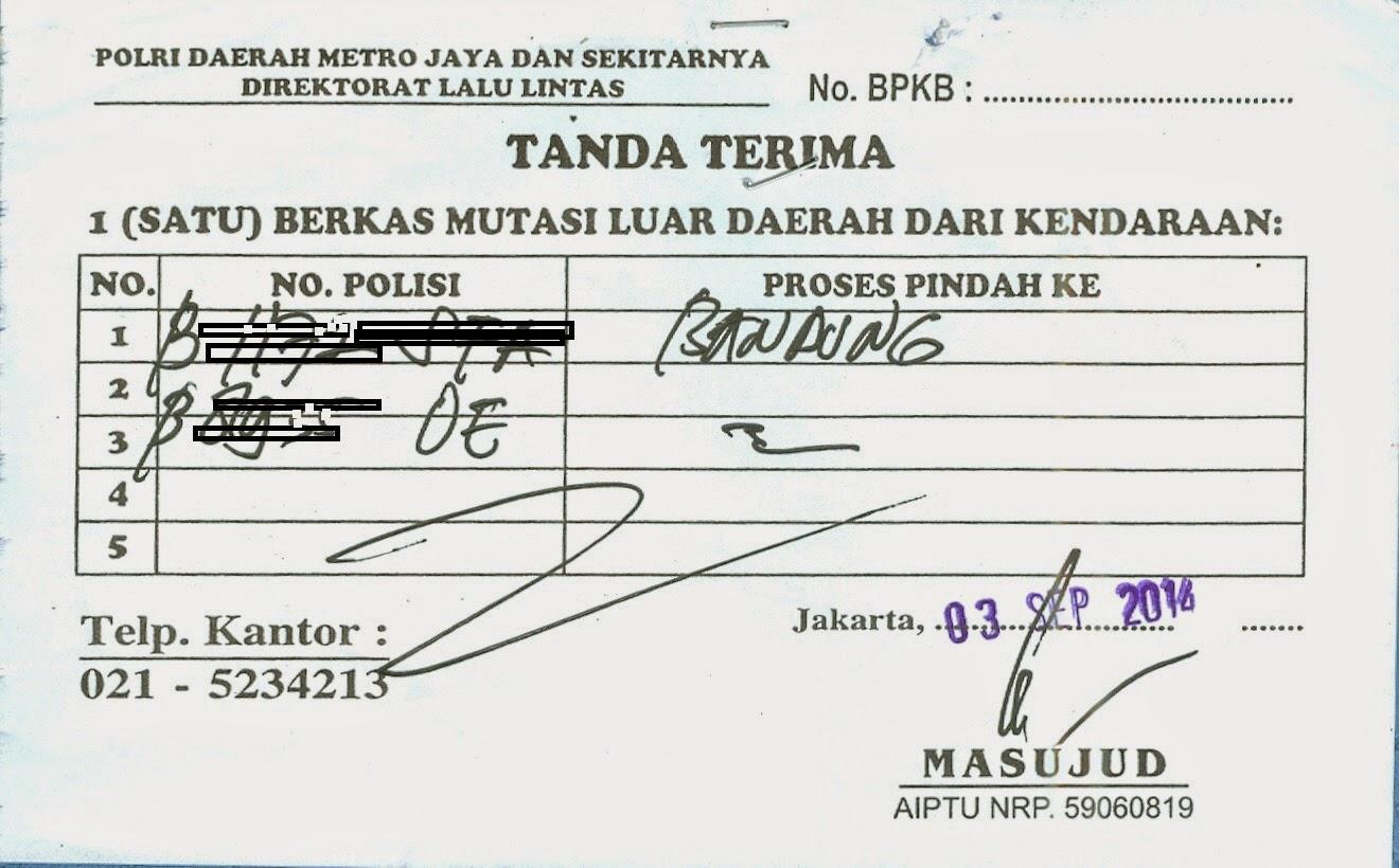 Mega-BiroJasa-Tanda Terima Daftar Mutasi Keluar dari Polda Metro Jaya