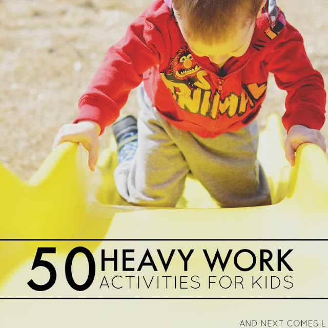 50 heavy work activities for kids  free printable