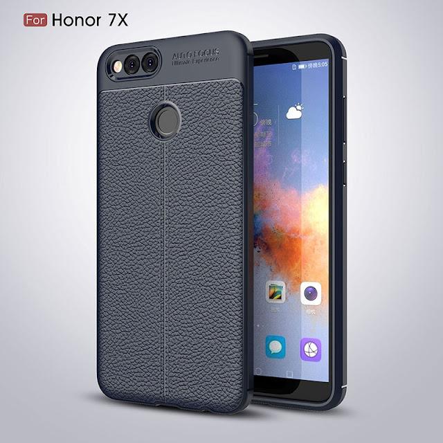 Ốp lưng da Huawei Honor 7x silicone phủ da