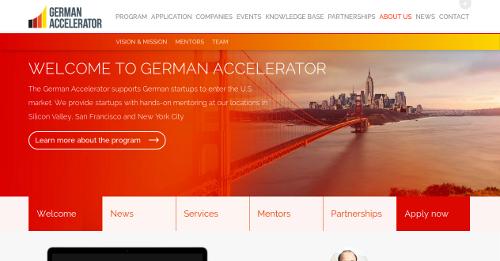 Die Website des German Accelerator