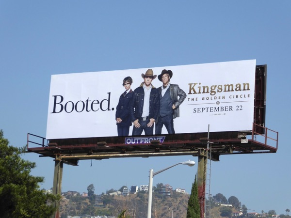 Kingsman Golden Circle movie billboard