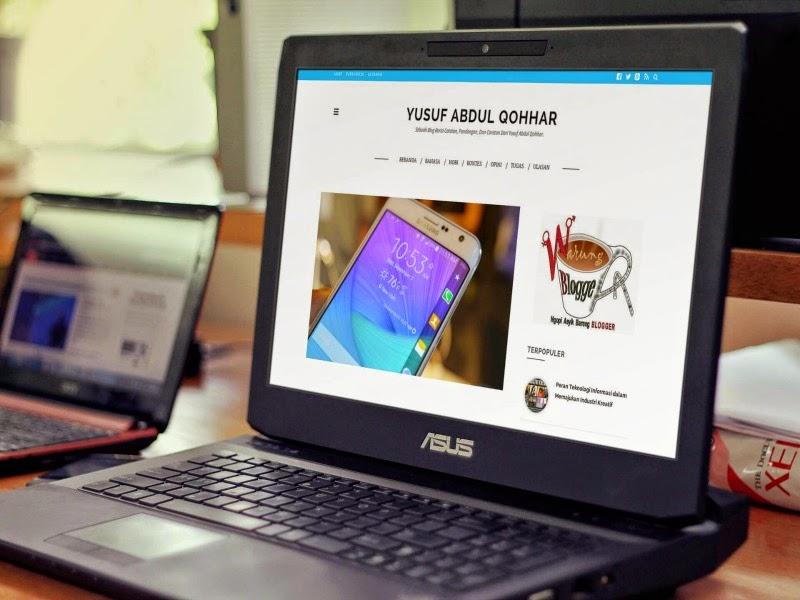 screenshot blog laptop