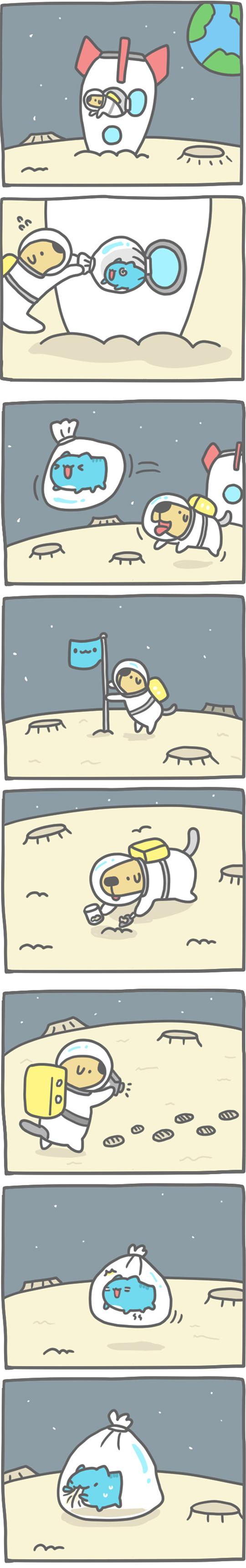 Truyện Mìn Lèo #144: Nguồn gốc sự sống trên mặt trăng