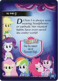 My Little Pony DJ Pon-3 Equestrian Friends Trading Card