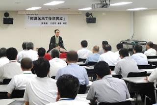 講演会講師・三遊亭楽春の後進育成講演会の風景(NTT)