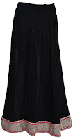 best long black skirt in india