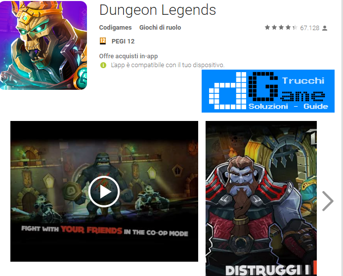 Trucchi Dungeon Legends Mod Apk Android v2.12