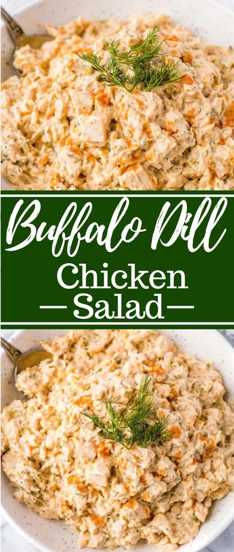 Buffalo Dill Chicken Salad #healthy