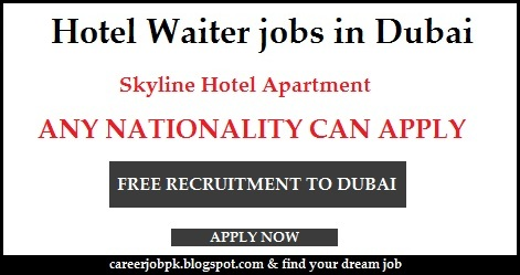 Hotel Waiter jobs in Dubai 2016
