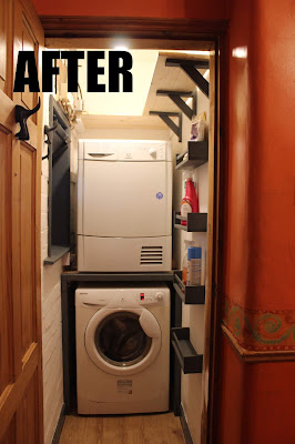 laundry cupboard before and after