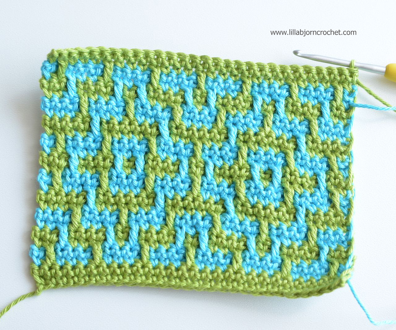 Nya Mosaic Blanket Free Crochet Pattern Lillabjörns Crochet World