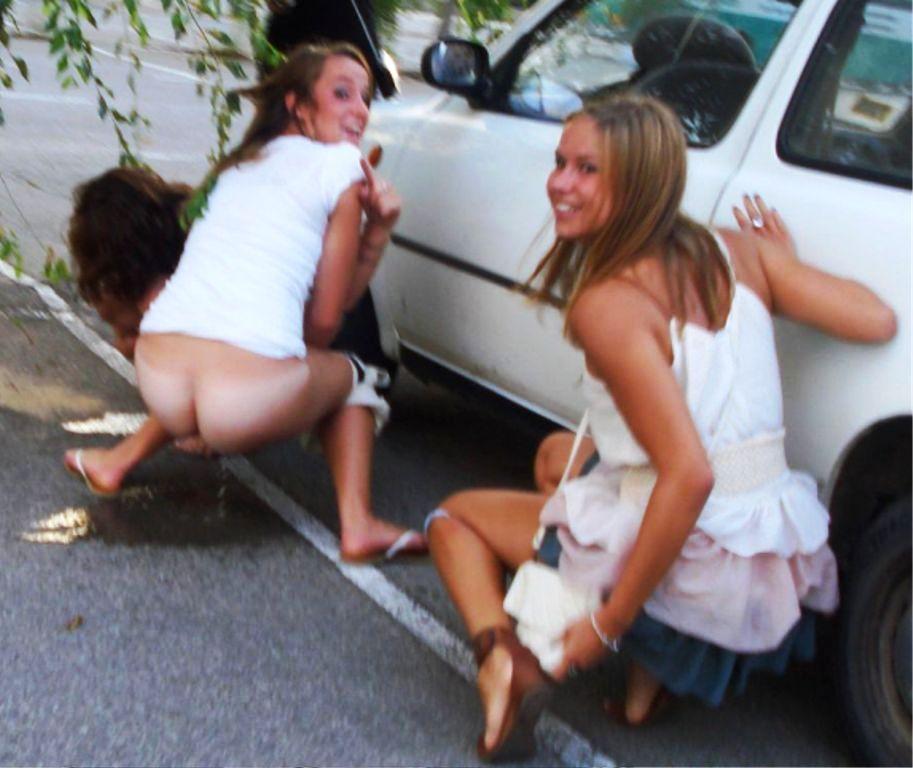 Candid nude bathroom girls peeing