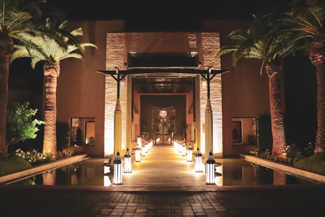 Marrakech, resort Fairmont Royal Palm. Ingresso alla Spa