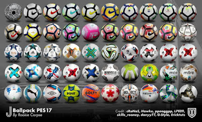 PES 2017 J_Ballpack_PES17 v.1 ( 50 Balls ) by Rookie Corpse