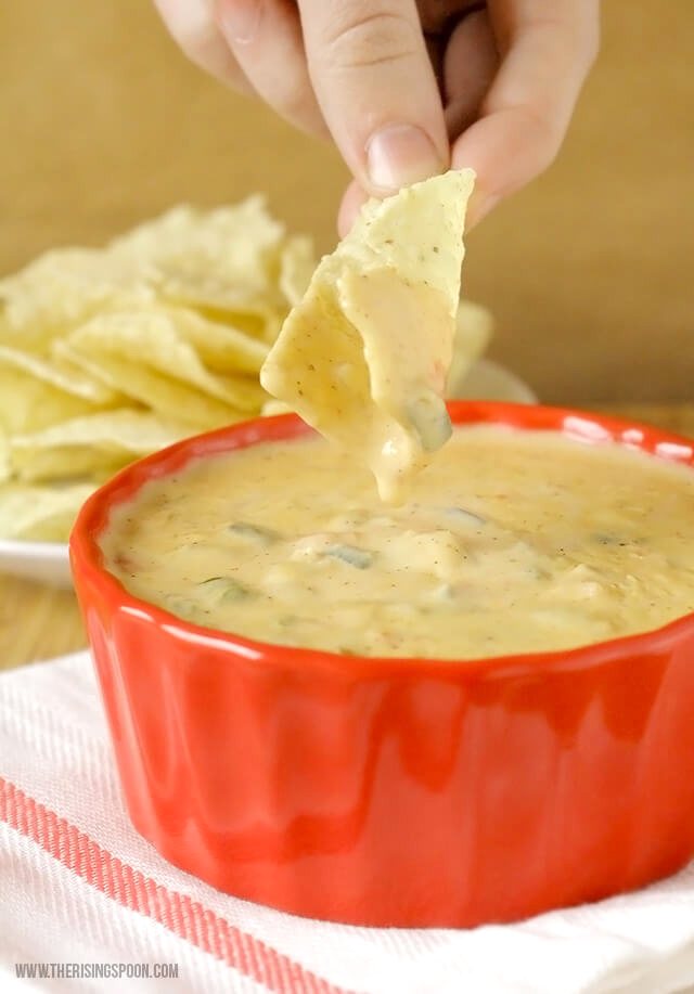 Homemade Queso Dip with Real Cheese