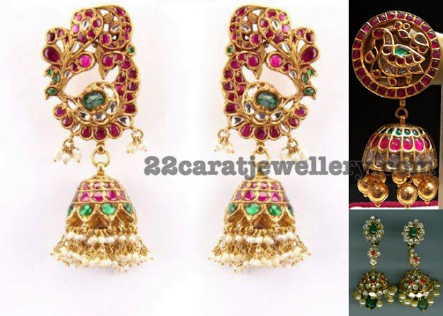 Kundan Jhumkas by Arnav Jewellers