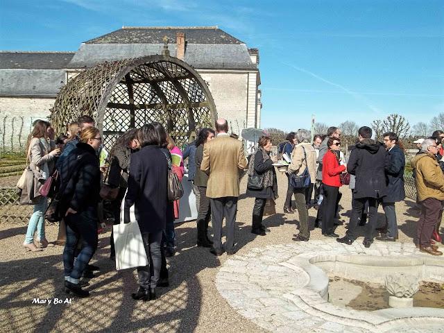 Apéritif cocktail pour le lancement de la saison Jardins en Val de Loire au Château de Villandry