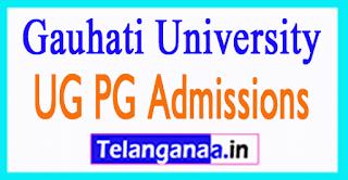 Gauhati University UG PG Admissions