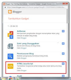 Cara Membuat Widget Gambar Dengan Tombol Kontrol Di Blogger