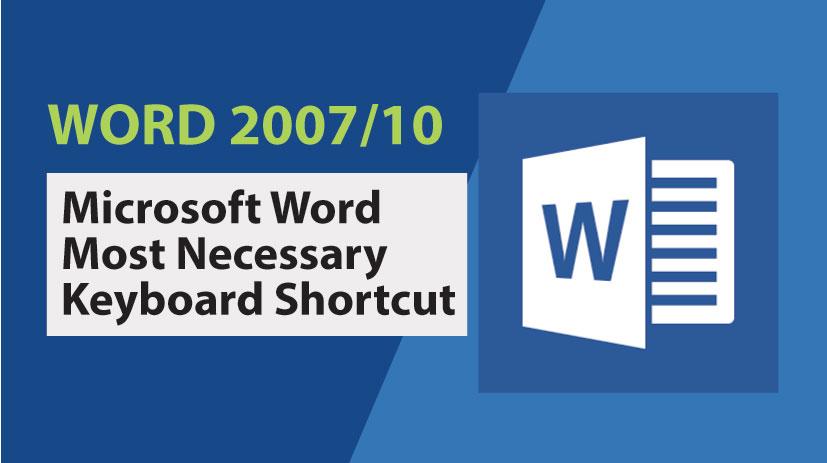 Image for Microsoft Word All Version Keyboard Shortcut Key