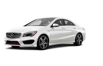 Mercedes CLA Facelift white color Hd Images