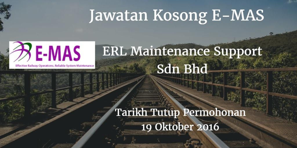 Jawatan Kosong E-MAS 19 Oktober 2016