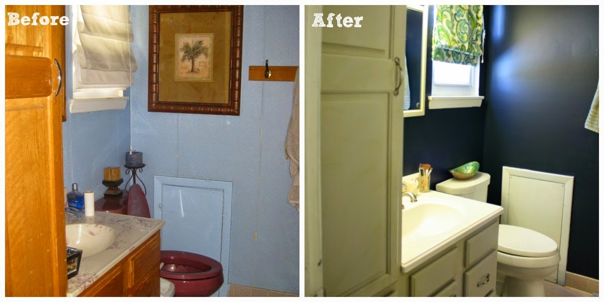 master bathroom makeover before & after