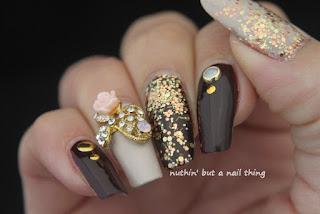 bling nail art idea glitter design