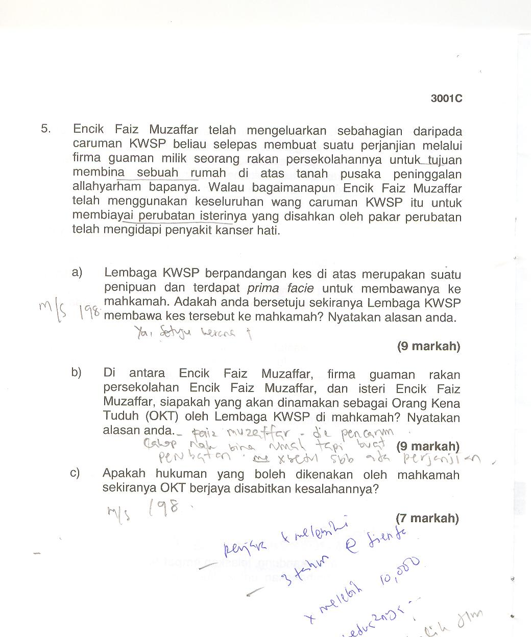 Contoh Soalan Kpsl N29 Bahagian 1 - Deepavalim