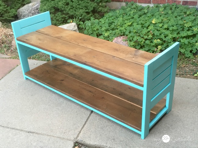 Children's Bench, with Storage Shelf, MyLove2Create
