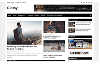 Glossy Blogger Template   Free Download price in nigeria