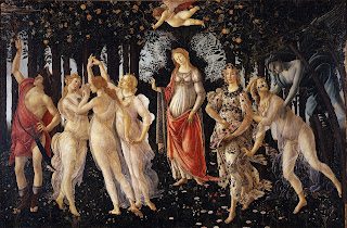Primavera (c. 1482) by the Italian Painter Sandro Botticelli (c. 1445–1510)