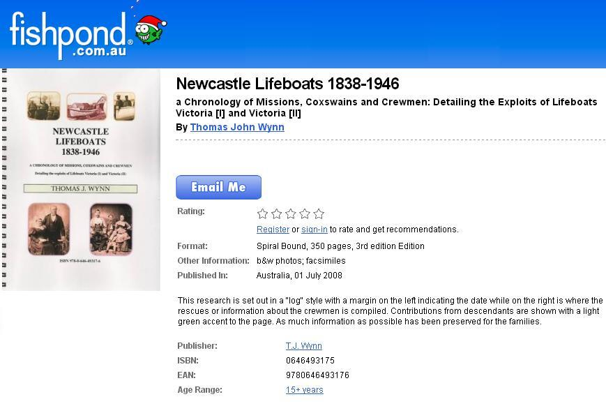 NEWCASTLE LIFEBOATS 1838-1946