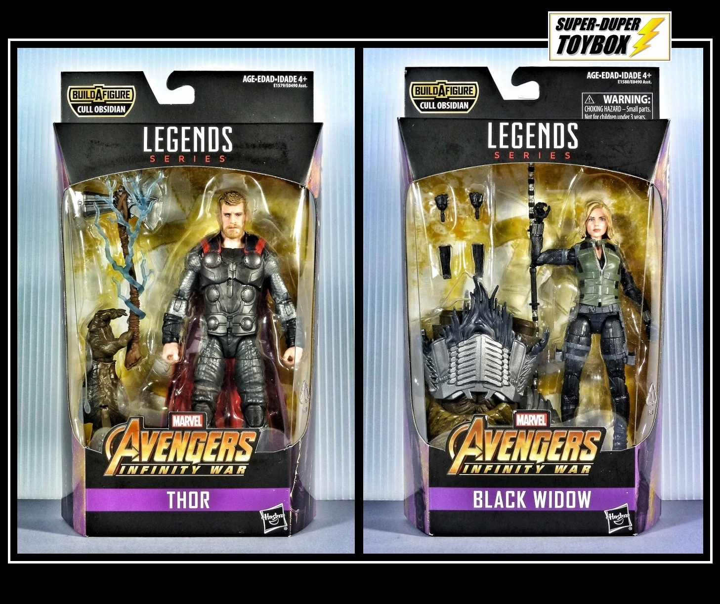 Super Dupertoybox Marvel Legends Thor Black Widow