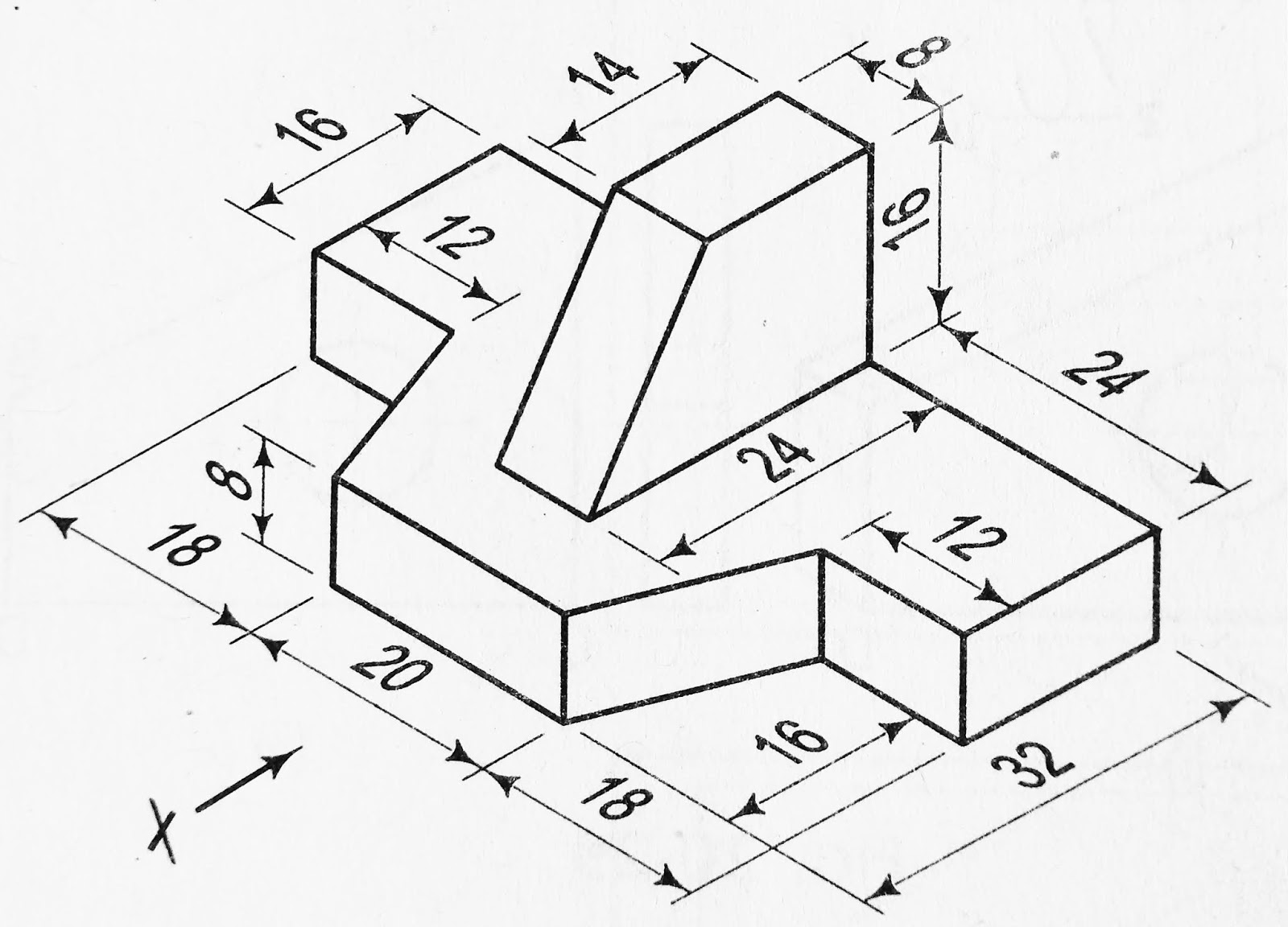 Orthographic Projection Conversion Of 3d To 2d In First