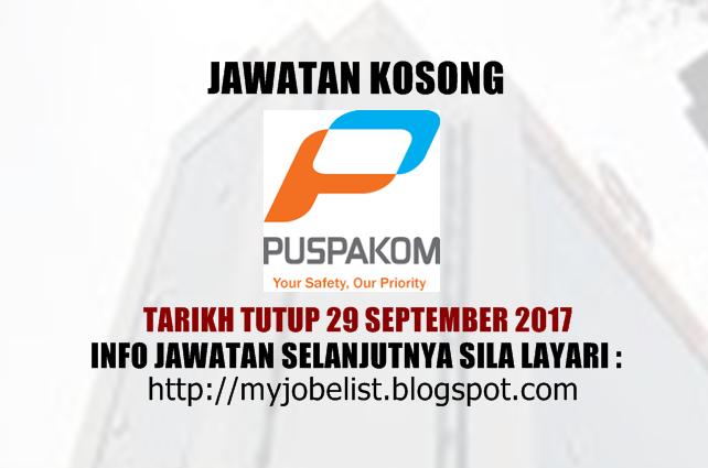 Jawatan Kosong di PUSPAKOM Sdn Bhd - 29 September 2017