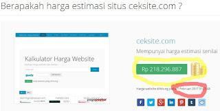CEKSITE.COM,CEK HARGA ESTIMASI SITUS
