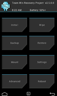 TWRP 2.8 for FLARE S3 OCTACORE PREVIEW 1